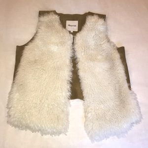 Madewell Shearling and Suede Vest